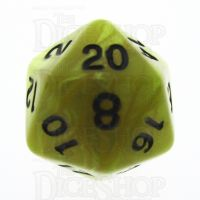 TDSO Pearl Yellow & Black D20 Dice