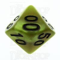 TDSO Pearl Yellow & Black Percentile Dice