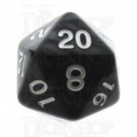 TDSO Pearl Black & White D20 Dice