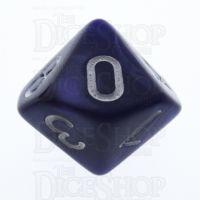 TDSO Pearl Purple & White D10 Dice