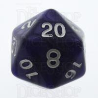 TDSO Pearl Purple & White D20 Dice