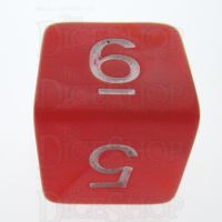 TDSO Pearl Red & White D6 Dice