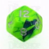 D&G Toxic Slime Green & Blue D12 Dice