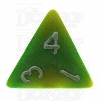 TDSO Duel Green & Yellow With White D4 Dice