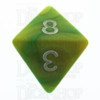 TDSO Duel Green & Yellow With White D8 Dice