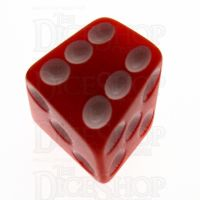 Tessellations Opaque Red Skew D6 Spot Dice