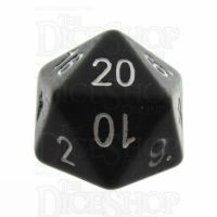 Tessellations Opaque Black Numerically Balanced D20 Dice
