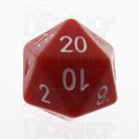 Tessellations Opaque Red Numerically Balanced D20 Dice