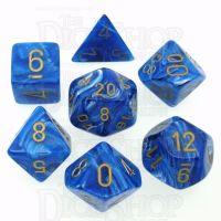 Chessex Vortex Blue 7 Dice Polyset