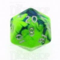 D&G Toxic Slime Green & Blue D20 Dice