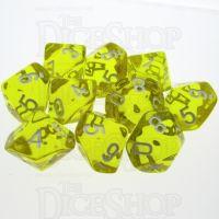 TDSO Bright Gem Citrine 10 x D10 Dice Set