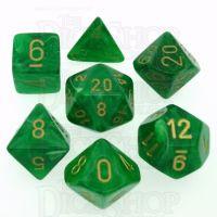 Chessex Vortex Green 7 Dice Polyset
