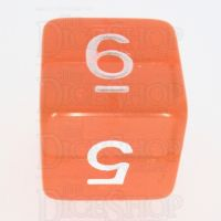 TDSO Bright Gem Fire Opal D6 Dice