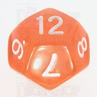 TDSO Bright Gem Fire Opal D12 Dice