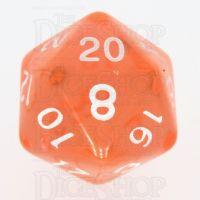 TDSO Bright Gem Fire Opal D20 Dice