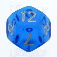 TDSO Bright Gem Sapphire D12 Dice