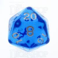 TDSO Bright Gem Sapphire D20 Dice