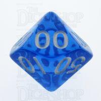 TDSO Bright Gem Sapphire Percentile Dice