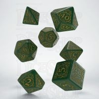 Q Workshop Pathfinder Jade Regent Green & Yellow 7 Dice Polyset
