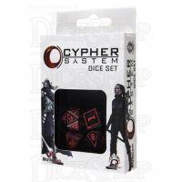 Q Workshop Cypher System Black & Red 4 x Polyhedral Dice Set