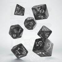 Q Workshop Classic RPG Pearl Smoke & White 7 Dice Polyset