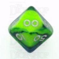 D&G Toxic Slime Green & Blue Percentile Dice