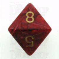 Chessex Vortex Burgundy D8 Dice