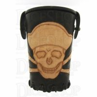 QD Jolly Roger Brown Leather Dice Cup