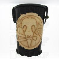 QD Shaman Black Leather Dice Cup