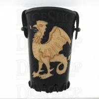 QD Common Cockatrice Black Leather Dice Cup