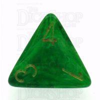 Chessex Vortex Green D4 Dice