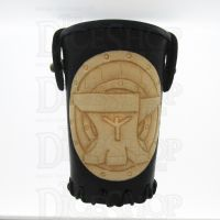 QD Dwarven Anvil Black Leather Dice Cup