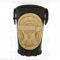QD Dwarven Anvil Brown Leather Dice Cup