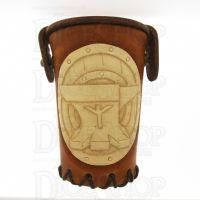 QD Dwarven Anvil Tan Leather Dice Cup