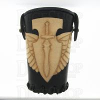 QD Elven Wings Black Leather Dice Cup