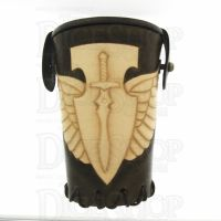 QD Elven Wings Brown Leather Dice Cup