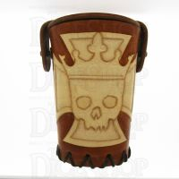 QD Emperors Cross Tan Leather Dice Cup
