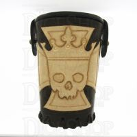 QD Emperors Cross Brown Leather Dice Cup