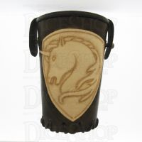 QD Unicorn Brown Leather Dice Cup