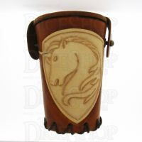 QD Unicorn Tan Leather Dice Cup