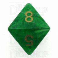 Chessex Vortex Green D8 Dice