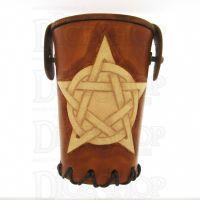 QD Pentagram Tan Leather Dice Cup