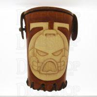 QD Space Marine Tan Leather Dice Cup