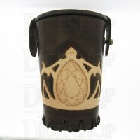 QD Elven Crown Brown Leather Dice Cup