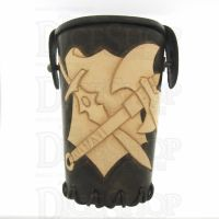 QD Warrior Brown Leather Dice Cup