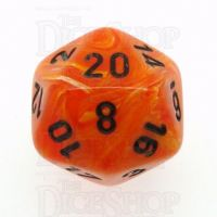 Chessex Vortex Orange & Black D20 Dice