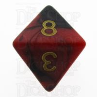 TDSO Duel Black & Red With Gold D8 Dice - Discontinued