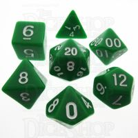 TDSO Opaque Green 7 Dice Polyset