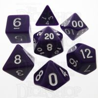 TDSO Opaque Purple 7 Dice Polyset