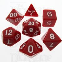 TDSO Opaque Red 7 Dice Polyset